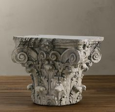 Scrolling Corinthian Capital Side Table | Side & Item Tables | Restoration Hardware