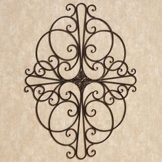 """Savino Indoor Outdoor Wrought Iron Wall Grille  -- Touch of Class  -- $44.99  --  Wall accent will hang horizontally or vertically -- 32""""x24"""""""