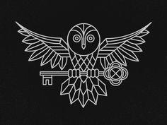 Geometric Owl by Jeremy Vessey