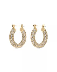 Luv Aj - Baby Amalfi Pavé Hoop Earrings
