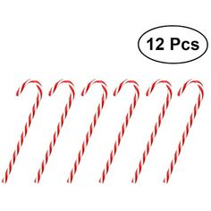 BESTOYARD 12 Pcs Twinkling Candy Cane Christmas Lawn Stakes Pathway Markers  Creative Christmas Tree Decoration Gift 3d00ecd3967c