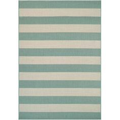 Breakwater Bay Katy Teal & Ivory Area Rug