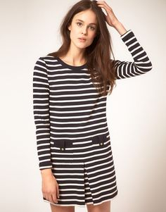 stripe breton dress