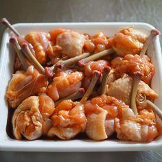 #お弁当 箱に花が咲く!華やか「#チューリップから揚げ」の #運動会弁当 | #おうちごはん Bento, Catering, Shrimp, Lunch Box, Food And Drink, Monat, Chicken, Cooking, Tulips