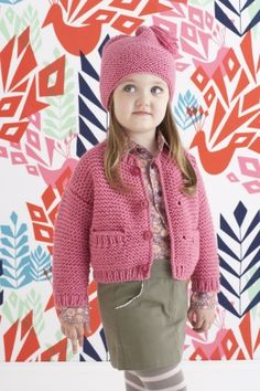 140b08d716697 Free Knitting Pattern  Emma Hat and Cardigan Crochet Girls
