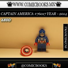 Captain America from LEGO set #76017 You can buy this LEGO toy at: www.comicbooks.mx Also follow us on Instagram: comicbooks, sundaycomics and sportscards
