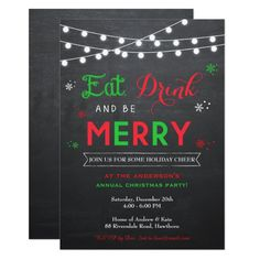 Shop Christmas Party Invitation / Holiday Invitation created by LittleApplesDesign.