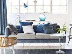 Bilbao II Fabrics from Designers Guild Light Blue Rooms, Living Room White, Living Room Red, Blue Room Paint, Wallpaper Living Room, Living Room Background, Blue Interior Color Scheme, Room Decor, Living Room Grey