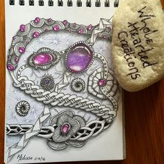 A6 size Monday morning #tangle Have a great week friends #ZIA #zenart #zengems…