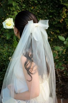 Hey, I found this really awesome Etsy listing at https://www.etsy.com/uk/listing/256662731/ivory-fingertip-veil-bow-veil-fingertip