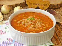 Salçalı Buğday Çorbası Resmi Turkish Recipes, Ethnic Recipes, Chana Masala, Soups, Food, Karma, Recipes, Bulgur, Essen