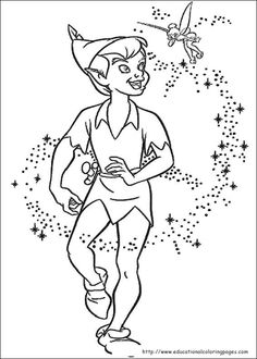 Peter Pan Coloring pages - Educational Fun Kids Coloring Pages and Preschool Skills Worksheets