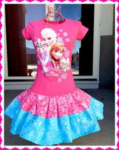 girls FROZEN Princess Anna Elsa Disney by BlossomBlueBoutique, $44.99
