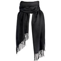 Vallées scarf, 70x200cm, black, 100 % wool Earth Tone Colors, Wool Scarf, Toiletry Bag, Black Wool, Shawl, Elegant, Cotton, Gifts, Bags
