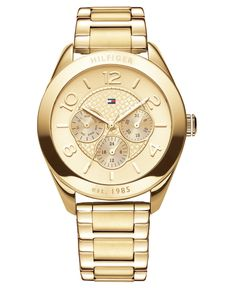 Tommy Hilfiger Gold Stainless Steel Chronograph (40mm)