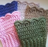 Crocheting: Crochet Boot Cuffs