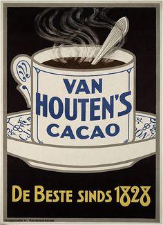 Reclame posters | 1900 - 1925 | Van Houten's Cacao, de beste sinds 1828 | Vintageposter.nl | Vintage Posters