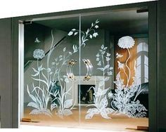 Stunning Modern Partition Design Ideas For Living Room 19 living Etched Glass Door, Tempered Glass Door, Sliding Glass Door, Glass Doors, Door Design Interior, Home Interior, Modern Interior Design, Interior Doors, Contemporary Design