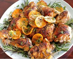 Easy Chicken Recipes - Herb and Citrus Oven Roasted Chicken Parts Recipe - The Best Chicken Recipes Great Chicken Recipes, New Recipes, Cooking Recipes, Recipe Chicken, Lemon Chicken, Cooking Blogs, Italian Chicken, Kraft Recipes, Easy Recipes