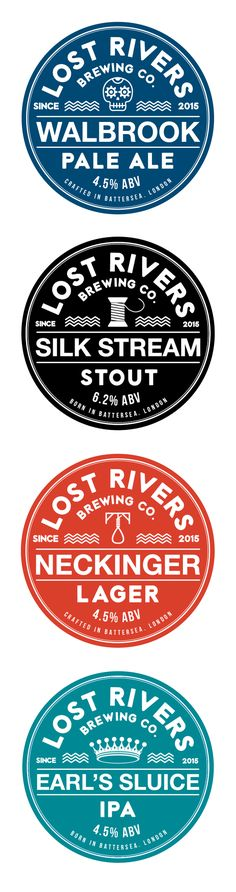 Lost Rivers Brewing Co. - Beer labels