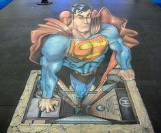 Joe Hill Art - 3D Pavement Art dreapp.com Amazing Street Art, 3d Street Art, Street Art Graffiti, Amazing Art, Graffiti Artists, Street Artists, Maori Tattoos, 3d Sidewalk Art, Optical Illusions Pictures