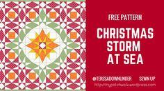 Are you looking for a free Christmas quilt pattern? This is it! The quilt is 45 1/4″ square and each finished block is 9 1/2″ square This quilt is really  easy to make. This is a founda…