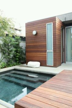 Trendy backyard ideas on a budget patio plunge pool Ideas - All For Garden Dream Pools, Backyard Design, Small Pools, Small Backyard, House Exterior, Exterior Design, Small Pool Design