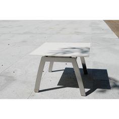 Todus Aria Beistelltisch ohne Rahmen quadratisch 50 cm, Keramik