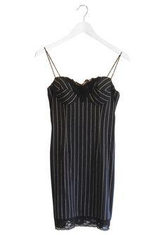 Pinstripe 90's Mini Dress