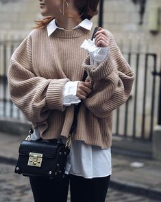 Dress street style 10 Sweaters to Add to Your Winter Wardrobe Knit Sweater / Fall Street style fashion / Winter Mode Outfits, Winter Fashion Outfits, Casual Fall Outfits, Autumn Fashion, Summer Outfits, Cute Outfits, Stylish Outfits, Autumn Outfits, Girly Outfits