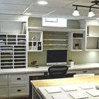 Scrapbooking Room - traditional - home office - detroit - by Millennium Cabinetry
