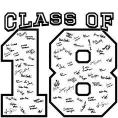 IZA DESIGN Senior Class Shirts 2018. Custom Senior Class