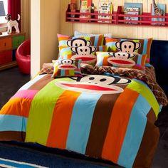 Rainbow Paul Frank Full Bedding
