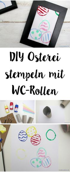 DIY stamped Easter Egg with WC-Rolls | DIY Osterei mit WC-Rollen