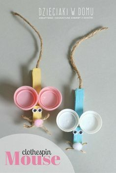 clothespin mouse craft for kids - Dzieciaki W. Domu