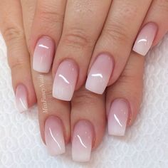 French Ombrè IG:@missfancynails ---------------------------------------------------------- #nails #nail #fashion #style #hudabeauty #cute #beauty #beautiful #instagood #pretty #girl #girls #stylish #sparkles #styles #gliter #nailart #opi #essie #unhas #preto #branco #rosa #love #shiny #polish #nailpolish #nailswag #anastasiabeverlyhills #vegas_nay