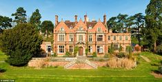 Historic Homes for Sale UK | Grandeur: The imposing red brick frontage of the 'Jacobethan'-style ...