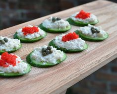 Smoked Whitefish Spread on Cucumber Slices, another easy summer recipe @ KitchenParade.com ~ Low carb and high protein, Weight Watchers PointsPlus 1