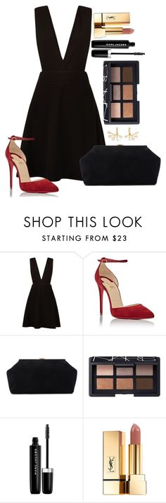 """Untitled #1538"" by fabianarveloc on Polyvore featuring New Look, Christian Louboutin, Mansur Gavriel, NARS Cosmetics, Marc Jacobs, Yves Saint Laurent and Elizabeth and James"