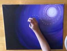 Whimsical Step By Step Painting with moon, dragonfly, clovers. #stepbysteppainting