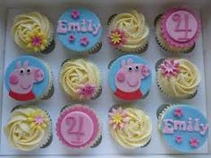 peppa pig cupcakes - Google Search