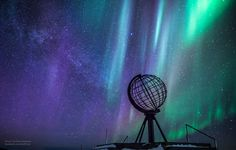 Aurora and Milky Way at North Cape, Norway
