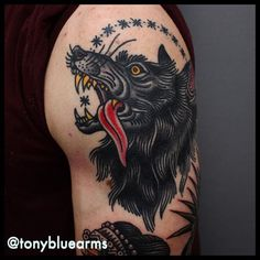 Wolf Tattoo by Tony Nilsson wolf traditional classictattoos TonyNilsson