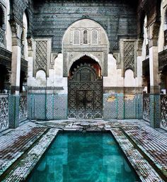 Old pool , Outdated pool Marrakesh, Morocco. Picture by Edwin de Jongh Marrakesh, Morocco. Picture by Edwin d. Places To Travel, Places To See, Travel Destinations, Places Around The World, Around The Worlds, Abandoned Buildings, Wonders Of The World, Adventure Travel, The Good Place
