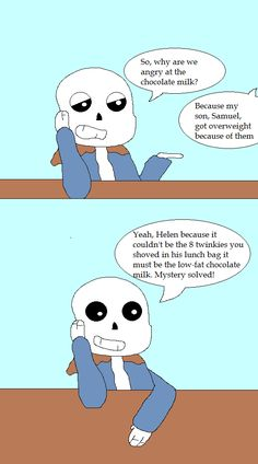 sans PTA Chocolate Milk Issue by BloodmoonComics on DeviantArt