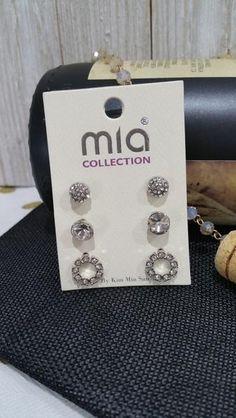Three Pair Rhinestone Earrings Set