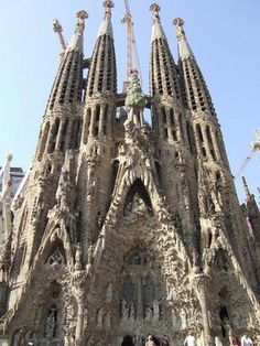 Sagrada Familia-most visited landmark in Barcelona, Spain