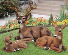 Home & Garden > Yard, Garden & Outdoor Living > Garden Decor > Statues & Yard Art > Animals & Birds Mouse over image to zoom Have one to sell? Sell it yourself Deer Family Doe Buck Faw Garden Animal Statues, Deer Statues, Garden Statues, Painting Cement, Elephant Ear Plant, Concrete Statues, Garden Frogs, Deer Family, Mini Fairy Garden