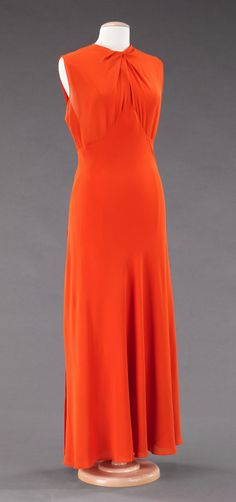 Valentina Evening Dress 1935, Brooklyn Costume Collection at the Met