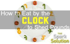 Learn how to eat by the clock to lose the weight FOR GOOD!! Great advice from the #sparksolution. | via @SparkPeople